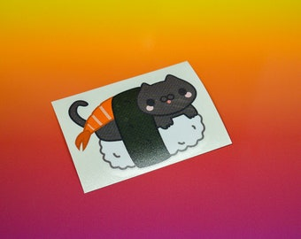 Sushi Cat Vinyl Sticker