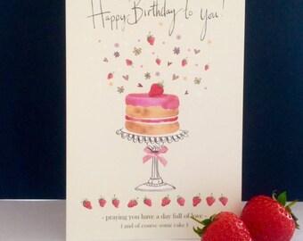 FB10 | Strawberry Cake