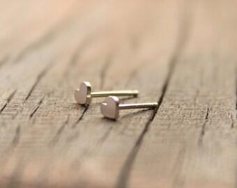 Tiny Silver Hearts,Dainty Studs,Valentines Heart Studs,Heart Earrings, Silver Heart Jewelry,Valentines Gift,Heart Stud,Love Heart Jewelry