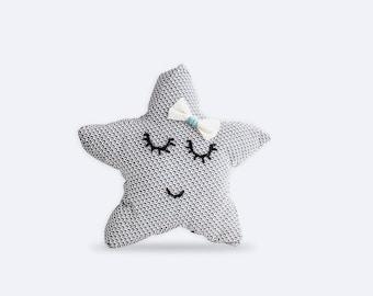 Cushion Star - Blue floral pattern