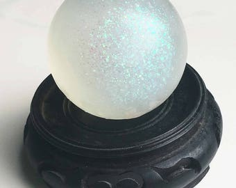 CRYSTAL BALL Glycerin 4 ounce Soap - You pick Your Favorite Scent Type and Color - 100% Pure Vegan Glycerin - orbuculum soap sphere magic
