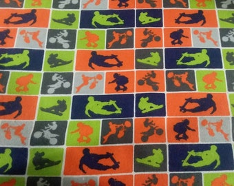 X-Games Flannel Fabric by the Yard