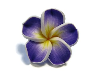 20 mm Polymer Clay Plumeria Flower Beads set of 4 (P34)