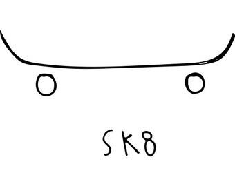 Sk8 Sticker