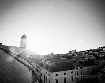 croatia photography, dubrovnik, travel photography, landscape, architecture, europe art decor, Dubrovnik in Black and White D07