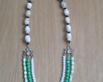 Shades of Green Multistrand Necklace
