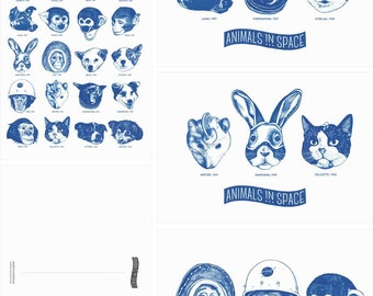 Animals In Space – miniprint set