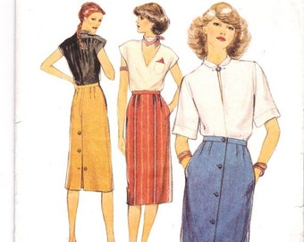 Vintage Sewing Pattern, THEATRE, Style 2728, Skirt, 1970s