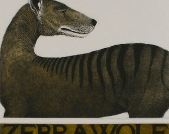 Zebra Wolf - two plate Etching and Aquatint with hand-etched title by D.R. Wakefield
