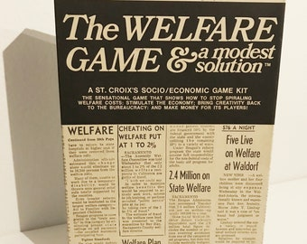RARE 'The Welfare Game & A Modest Solution' 1971 Vintage Board Game