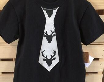 Boys Buck Night Tie Shirt