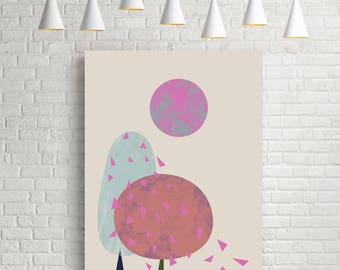 Abstract art, abstract landscape, abstract print, minimalist print, minimalist art, tree print, abstract wall art, abstract art print, Trees