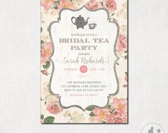 Bridal Tea Party Invite Fall Bridal Shower Invitation