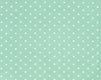 Dotty Seafoam Green Polka Dot Curtain and Upholstery Fabric