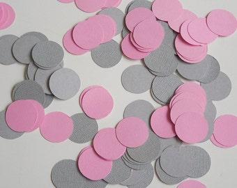 Pink and Gray Confetti / Baby Shower Confetti/ It's a Girl/ Wedding Confetti Party Confetti Table Confett, i Baby Shower Decorations