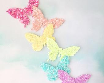 Glittered Butterfly Hair Clip - butterfly hair clip, Spring hair clip, Spring butterfly, butterfly headband - 3 WEEK TURNAROUND