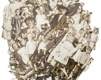 PAPER DOLLS EPHEMERA, Vintage Photo Die Cuts, Ideaology Paper Dolls, Tim Holtz Ephemera, Ideology Ephemera, Vintage Photo Ephemera,