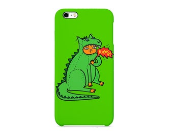 Cat Green Dinosaur Costume 3D full-print Phone case for / iPhone / Huawei / Samsung Galaxy / Exclusive Quality / Protective Case  sc 1 st  Etsy : cat dinosaur costume  - Germanpascual.Com