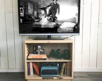 Mid Century Cole Steel Industrial Metal Bookcase, Cabinet, Office Shelf, Side Table