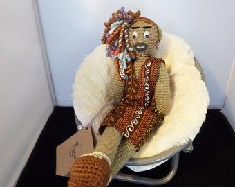Ashanti African-American Crochet Doll
