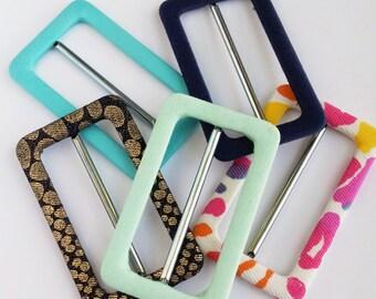 DIY Fabric belt buckles custom made in your choice of fabric, cool belt buckles, handmade fabric covered buckles, belt making supplies