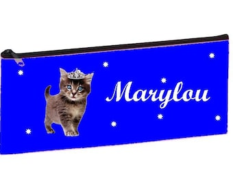 Royal Blue kitten personalized with name package
