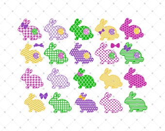 Easter Bunny Svg Cut Files, Easter Svg, Easter Monogram Svg, Bunny Svg, Silhouette Cut Files, Cricut Cut Files, Svg Files