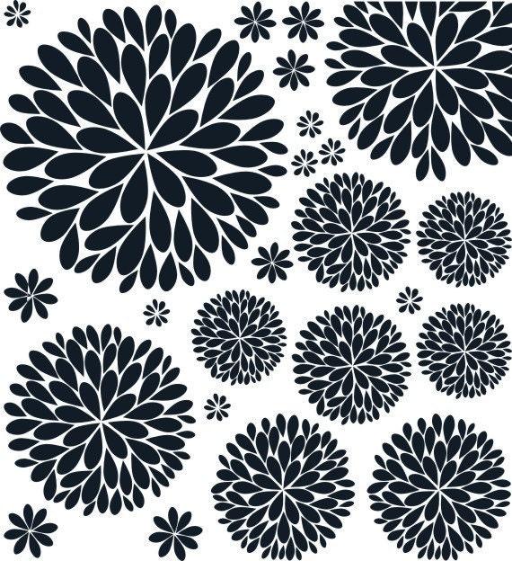 sc 1 th 235 & The Original Dahlia Flower Vinyl Wall Decal | Flower Decal