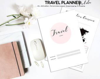Travel Planner, Printable Vacation Planner, Travel Journal, Vacation Organizer, Holiday Planner, Trip Planner, Printable Planner