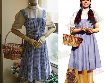 Wizard of Oz (1939 Film) Cosplay, Dorothy Maid Costume Set