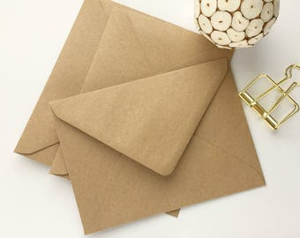 "100 5x7 Kraft Envelopes A7 Envelopes Envelopes Bulk Rustic envelopes US A7 for wedding invitations card supplies 5.1/4x7.1/4"" 133x184mm"