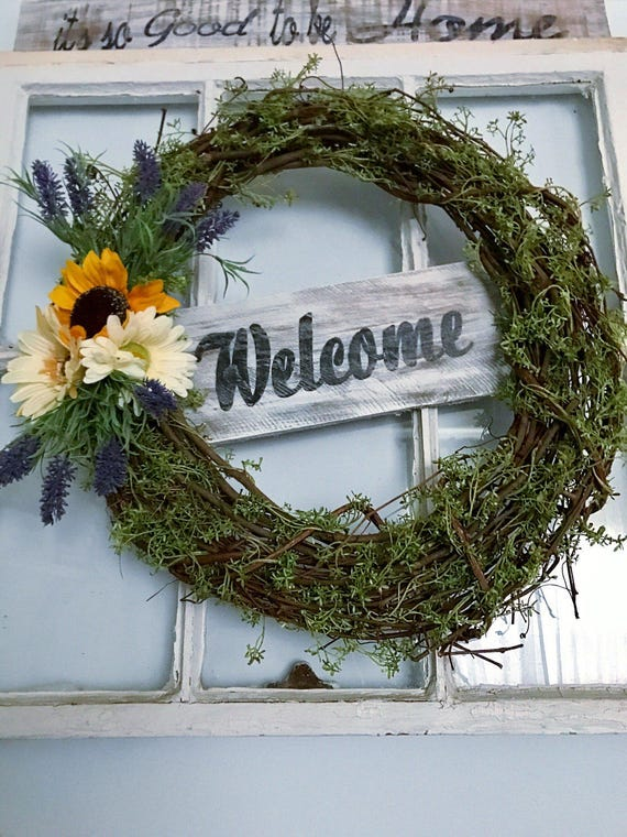 Wreath, Spring Wreath, Grapevine Wreath, Front Door Decor, Front Door Sign, Farmhouse Wreath, Outdoor Wreath, Home Rustic Wreath