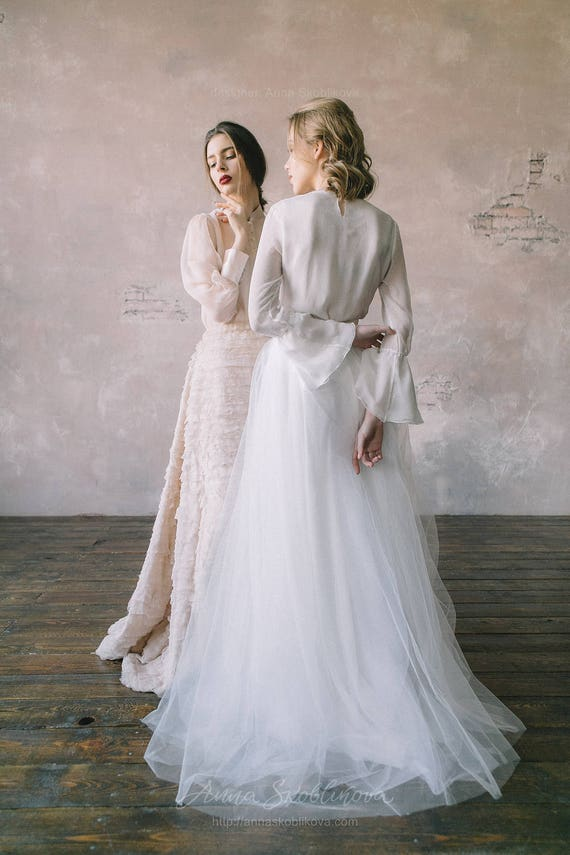 White wedding dress vintage wedding dress custom wedding like this item junglespirit Choice Image