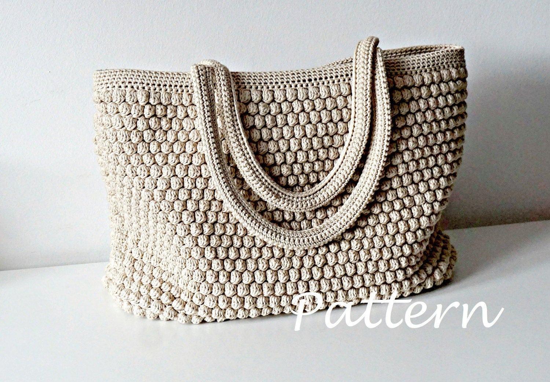 CROCHET PATTERN Crochet Bag Pattern Tote Pattern crochet purse woman ...