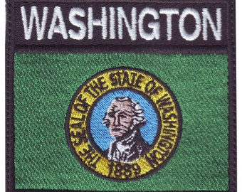 Washington Badge Flag Embroidered  Patch