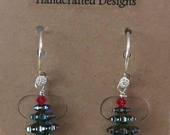 Sterling Silver Swarovski Tree Earrings