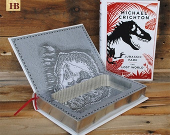 Hollow Book Safe - Jurassic Park - Leather Bound