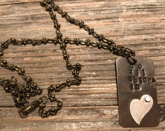 Do all things in love necklace