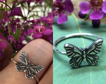 Butterfly Ring - Made To Order In Your Size