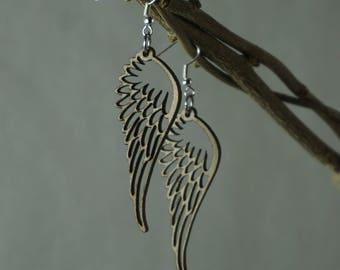 Wooden Earrings - Wings