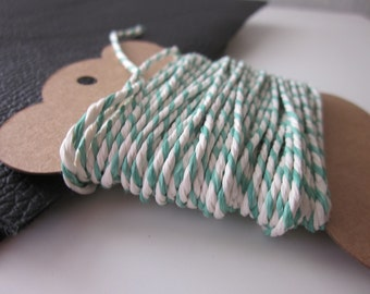10m Green and White Bakers Twine
