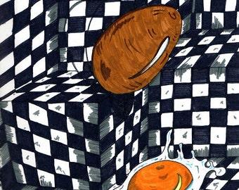 Ilustración de comida / Ilustración abstracta / cocina