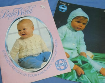 Sirdar Knitting and Crochet Booklets, Baby Booties, Sweaters, Clothes, Snuggly DK