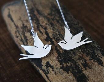Swallow Earrings, Swallow Jewelry, Sailor Jerry Swallows, Swallow Tattoo