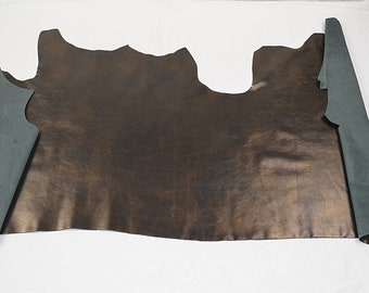Half leather of golden cowhide