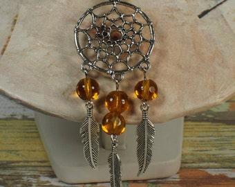 Dreamcatcher necklace. Talisman necklace. Native american necklace. Necklace boho. Hippie necklace. Spiritual necklace. Valentine's day gift