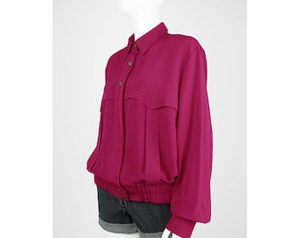 Vintage Blouson pink with shirt collar