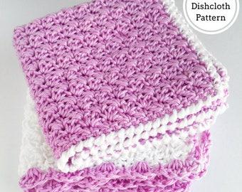 Alexandra / Crochet Washcloth Pattern / Washcloth Crochet Pattern / Easy Dishcloth Pattern / Christmas Crochet Dishcloth Pattern / Towel