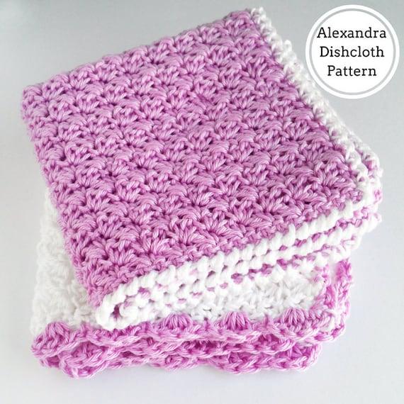 Alexandra Crochet Washcloth Pattern Washcloth Crochet Pattern