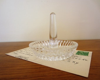 Glass ring dish.  Free shipping.